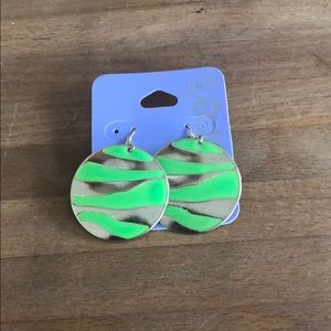 Brand New Green and Gold Claire's Earrings